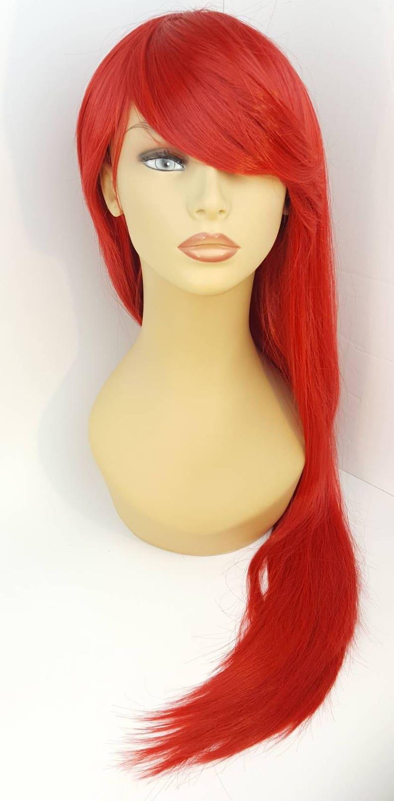 Perruque longue rouge, X-tra longue perruque