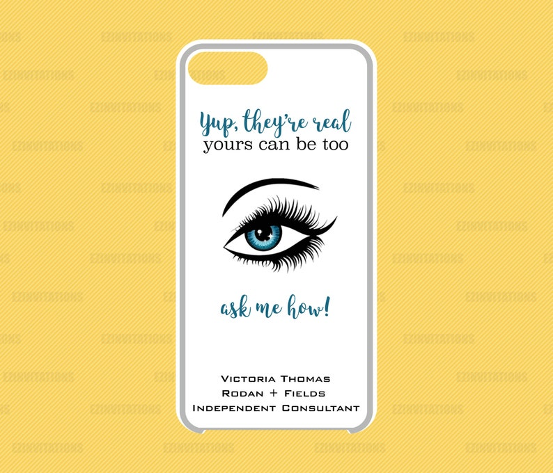 Rodan And Fields Iphone 6 7 8 Phone Case Insert R F Yup They Re Real Lashes Digital File Rodan Fields Gift Prize Printable File