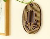 Hamsa Decor, Wood Wall Art, Hamsa Wall Art, New Home Gift, Hamsa Hand Home Decor, Spiritual Gift, Wall Hamsa,Hamsa Wall Hanging,Op Art Decor