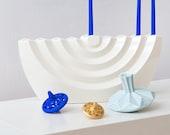 Modern Hanukkah Menorah, Designer Menorah, Chanukah Candelabra ,Ceramic Chanukia, Wavy Menorah, Hanukkah Decorations, Jewish Wedding Gift