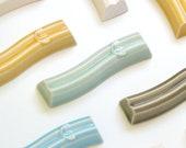 "Modern Mezuzah cases,Set of 3 Wavy Mezuzah cases, Modern judaica, Curved ceramic Mezuzah cases, Fits a 2.7"" scroll, Pssover gift"