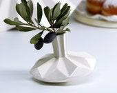 Ceramic Vase, Chanukah Gift, Small Vase, Hanukkah Decoration, White Vase, Hanukkah Gift, Spinning Top, Judaica Art, Geometric Vase, Unique