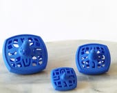 Hanukkah dreidel - Set of 3 nesting spinning tops - Blue Matryoshka spin tops - 3 Square Dreidel - Original Chanukah gift 3D printed nylon