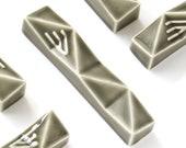 "Modern Mezuzah Case, Grey Mezuzah for Doorposts with Kosher scroll, Jewish Gift, Grey Ceramic mezuzah Fits a 2.7"" Scroll, Gift from Israel"