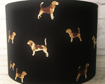 Dog lampshade etsy beagle lampshade dog lamp shade light shade dog 15cm 20cm 25cm 30cm country foxhound ceiling standard dog lover gift aloadofball Gallery