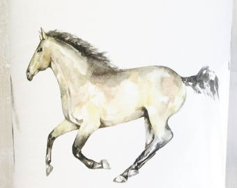 Horse lamp shade etsy horses lampshade horse lamp shade 15cm 20cm 25cm 30cm 35cm drum ceiling animal riding wildlife equine country sport aloadofball Image collections