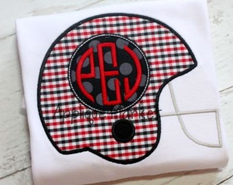 Monogrammed Football Helmet - Customize With Your Favorite Team!