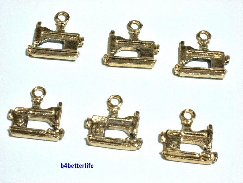 Lot of 24pcs Handbag Gold Color Tone Metal Charms #SW1048.