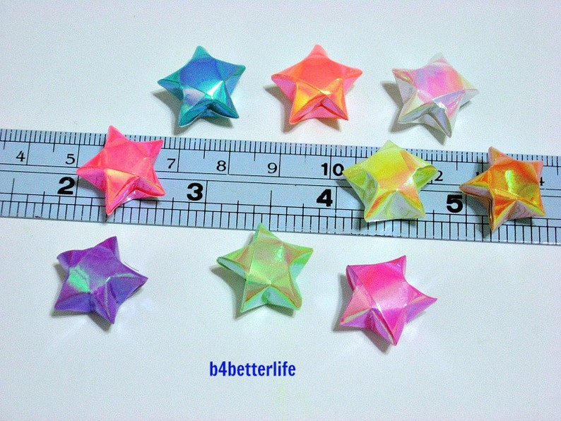 LngBo Origami Lucky Star Paper Strips Folding Paper Ribbons Colors ... | 596x794