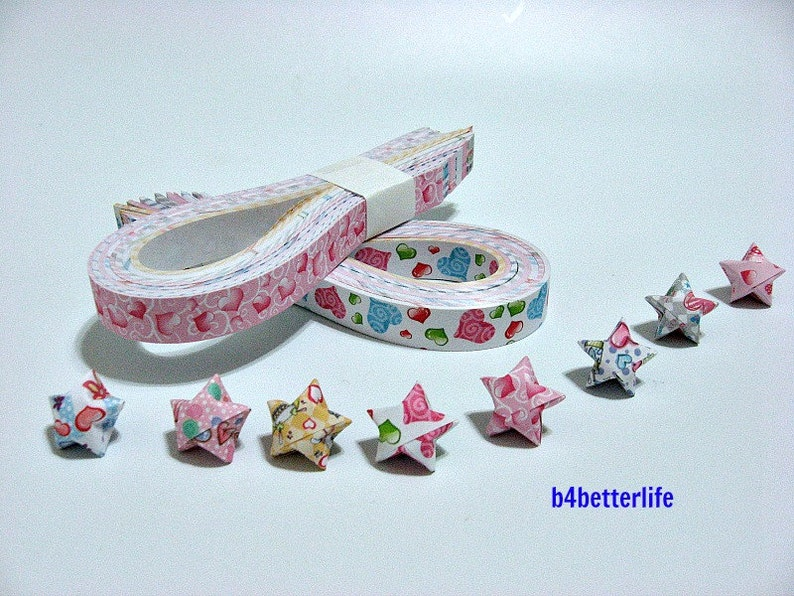 #C032. 26cm x 1.2cm XT Paper Series . 250 strips of DIY Origami Lucky Stars Paper Folding Kit