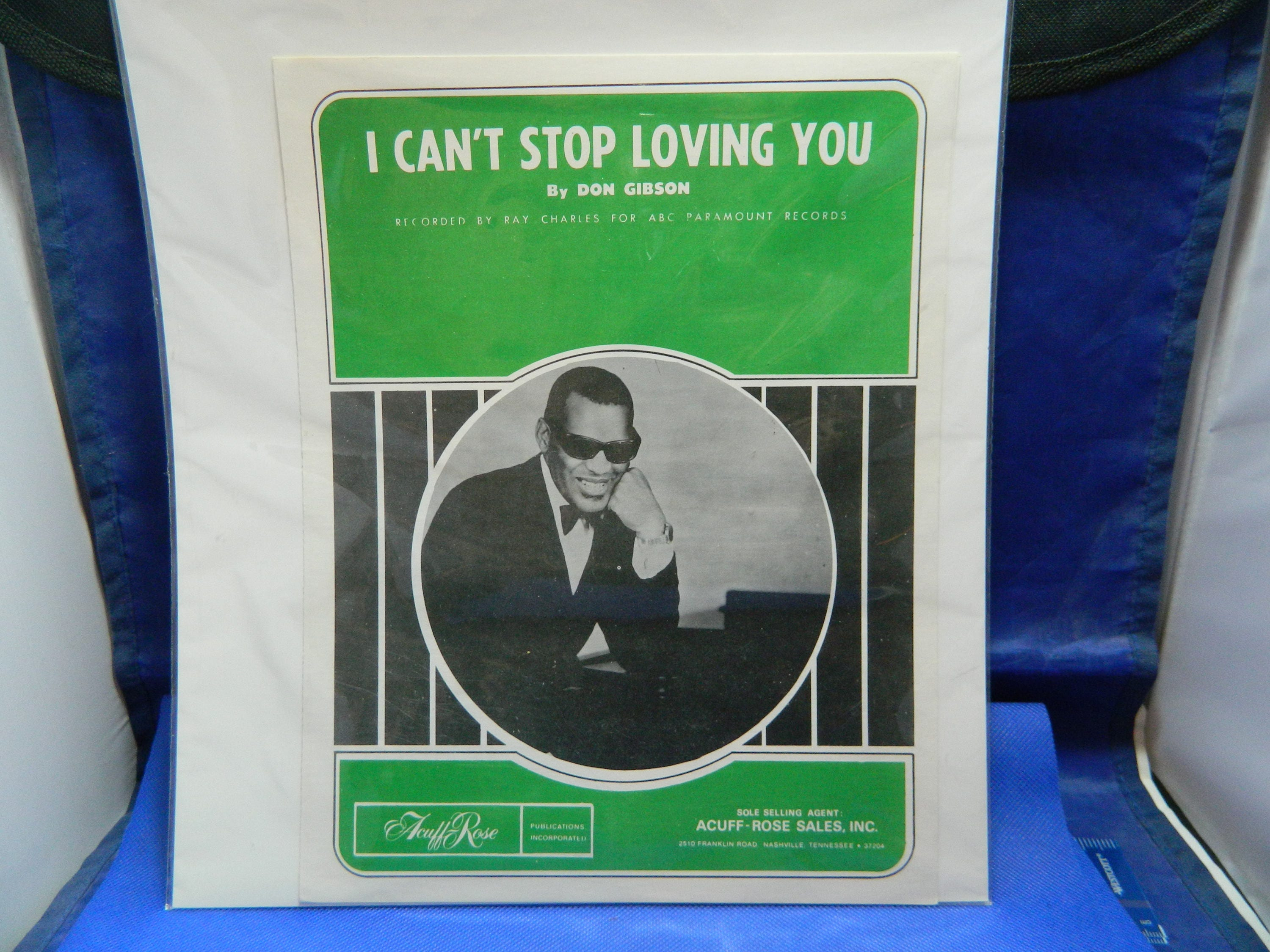 Sheet Music Ray Charles I Cant Stop Loving You Etsy