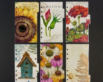 "Laminated dividers - Personal Size - ""Every flower is a soul blossoming in nature"""