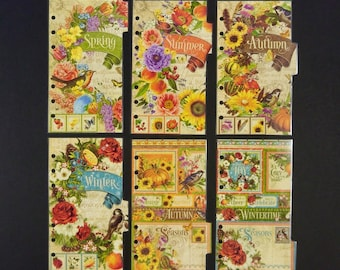 "Laminated dividers - Personal Size - ""Spring"""