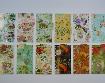 """Personal size - Monthly laminated dividers  - """"There are always flowers for those who want to see them"""""""