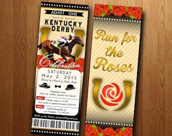 Kentucky Derby Party: Printable Ticket Invite