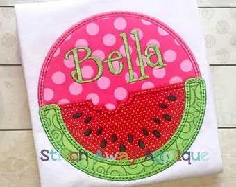 Watermelon Patch Summer Machine Applique Design