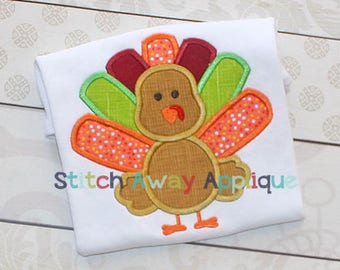 Turkey Boy 4 Thanksgiving Machine Applique Design