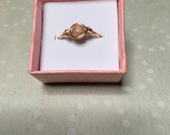 Rose gold stardust ring