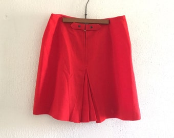 Vintage Red Wool Skort