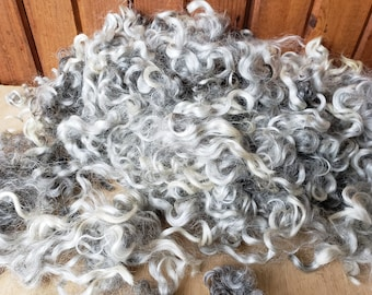 2 oz. Lincoln Wool Locks for Needle Felting/small doll hair/2D Wool Painting