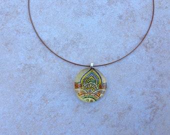 Glass Yellow JudiKins Pendant Necklace