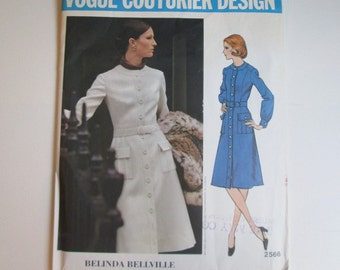 e8d21cb0fb 1971 UNCUT Vogue Couturier Belinda Bellville Pattern Kate Middleton Princess  Coatdress size 12 bust 34