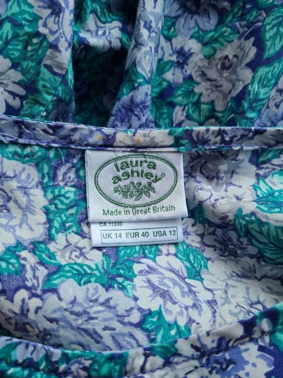 90s Laura Ashley dress / rose floral  / cotton La… - image 8