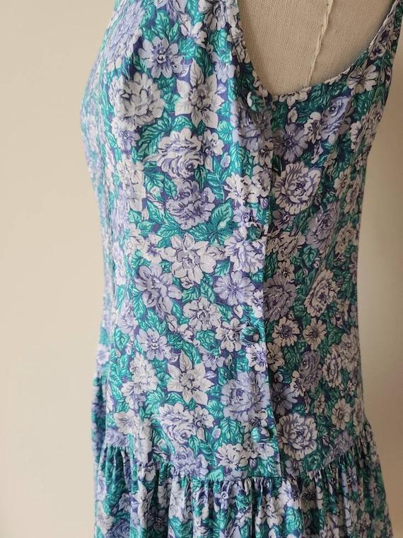 90s Laura Ashley dress / rose floral  / cotton La… - image 7