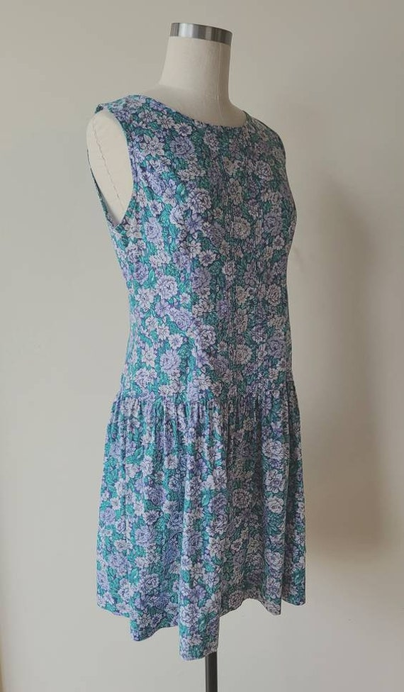 90s Laura Ashley dress / rose floral  / cotton La… - image 5