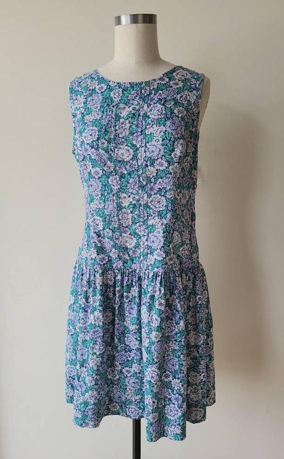 90s Laura Ashley dress / rose floral  / cotton La… - image 2