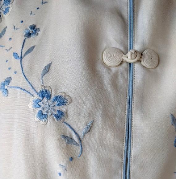 Vintage silk pajamas / asian silk lounge wear / S… - image 4