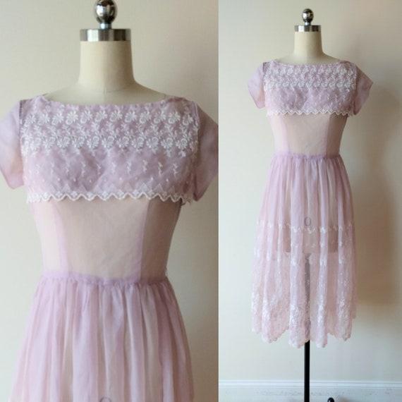 Lavender Sheer Dress
