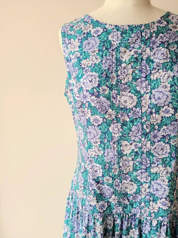 90s Laura Ashley dress / rose floral  / cotton La… - image 3
