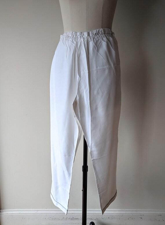 Vintage silk pajamas / asian silk lounge wear / S… - image 8