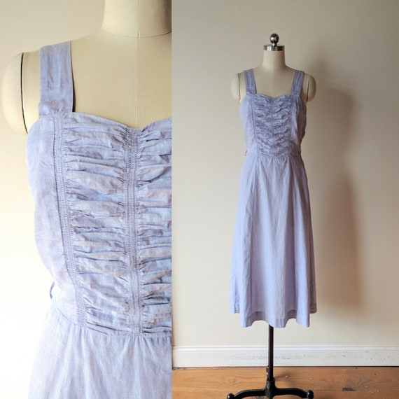 40s sun dress / camisole dress /  lavender cotton
