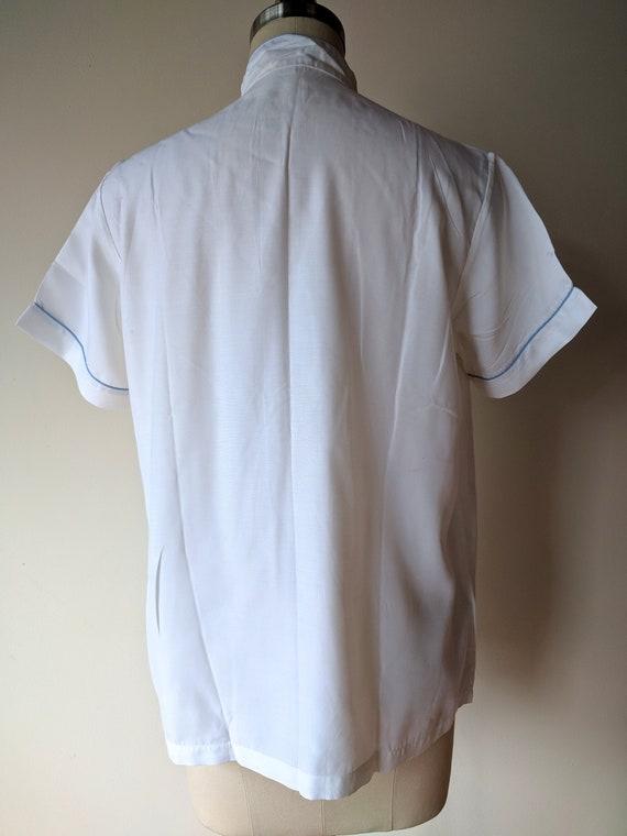 Vintage silk pajamas / asian silk lounge wear / S… - image 6