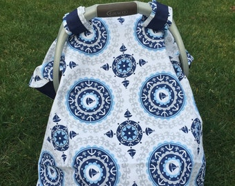 Baby BOY Nautical Car Seat Canopy Cover