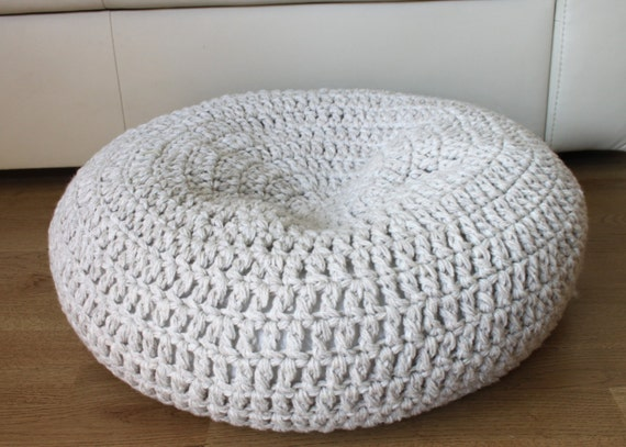 Size L Cat Dog Cave Crochet Cat Bed Wool Bed Stuffed Pet Etsy