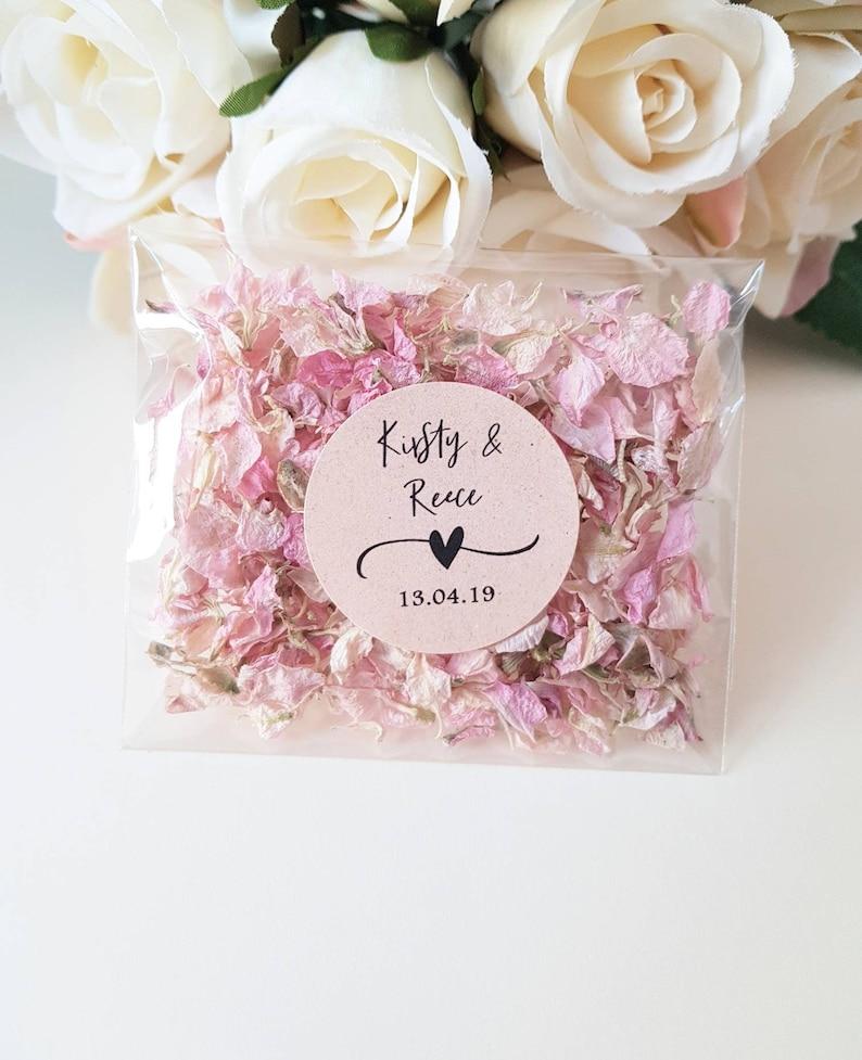 Personalised wedding Real Flower petal Confetti Pack  image 0
