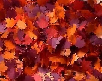 Dark Autumn  Maple leaves Wedding throwing table confetti - Biodegradable