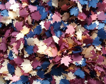Dark Navy Autumn Maple leaves Confetti for Wedding throwing table confetti - Biodegradable