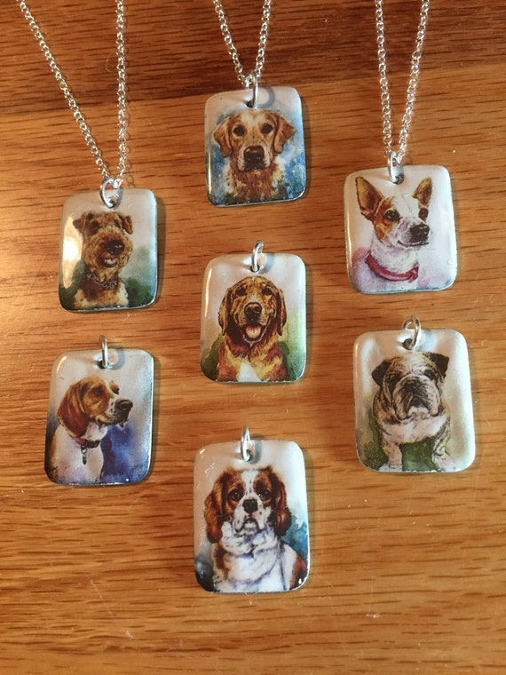 Dog Crystal Necklace Pendant Jack Russel Exceptional Gift Collection