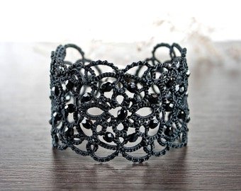 72ded9e9bad26 Anklet lace bracelet blue jeans lace anklet gifts for her | Etsy