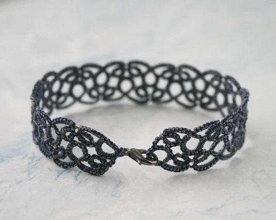 8e145aae5e20f Anklet lace bracelet, blue jeans lace anklet, gifts for her, beach  bracelet, yoga bracelet, something blue, fashion gifts