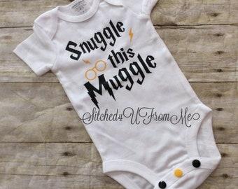 45cb41b47 Harry Potter Bodysuit, Snuggle this Muggle, Gryffindor bodysuit,muggle  bodysuit, gryffindor outfit, Muggle shirt,Gryffindor shirt