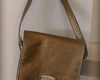 Bronze Crossbody Bag with Adjustable Strap
