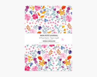 Notebook, journal, diary, gift, floral, A6, handmade, stationery, carnet, rose, fleurs,flowers, Tagebuch, Notizbuch, christmas