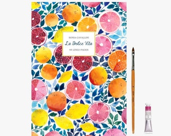 Journal, notebook,  diary, dolce vita, recipe book, A5, A6, stationery, gift, spring, mother day, Floral notebook, set, liberty, Tagebuch