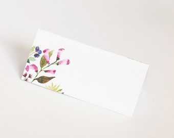 Place card, flowers, wedding, table decoration, floral, marque place, mariage, fleurs, arts de la table, décoration, fête, papergoods