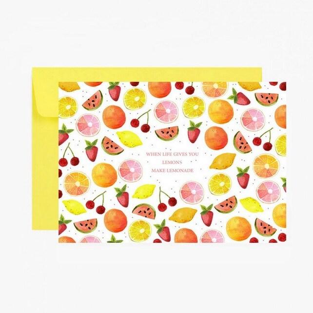 Greeting card when life gives you lemons make lemonade etsy image 0 m4hsunfo
